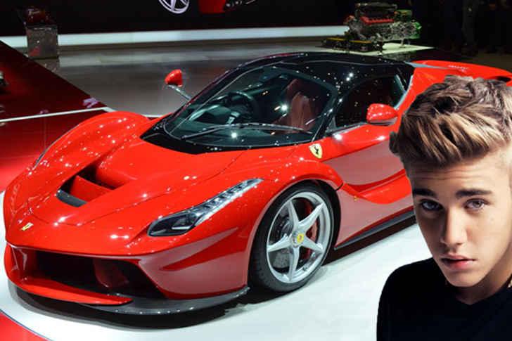 Justin Bieber Red Ferrari