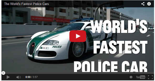 The WORLD's Fastest Police Cars! Dubai Police Department
